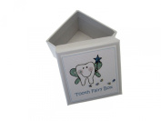 White Cotton Cards Boys Blue Tooth Fairy Tooth Box