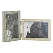 Natural Driftwood Double Folding 4x6 Photo Frame Gift