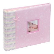 Kenro happy baby girl pink photo album and scrapbook 2 in 1