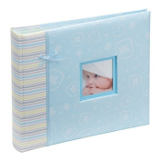 Kenro happy baby boy blue photo album and scrapbook 2 in 1