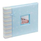 Kenro happy baby boy blue photo album and scrapbook 2 in 1