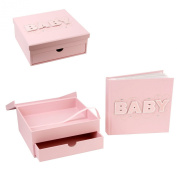 Talking Pictures Baby Girl Pink Album & Keepsake Box