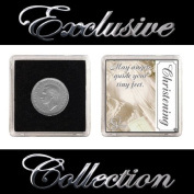 "LUCKY SIXPENCE FOR CHRISTENING ""BOY & GIRL"""