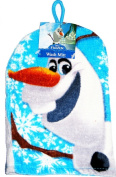 DISNEY FROZEN OLAF THE SNOWMAN BATH SHOWER TOWEL WASH MITT WITH HANGING LOOP