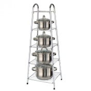 5 Tier Pan Stand Saucepan Rack Unit Organiser Kitchen Pot Storage