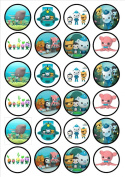 Octonauts Edible Wafer Rice Paper 24 x 4.5cm Cupcake Toppers/Decorations