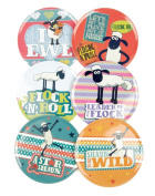 Shaun The Sheep Set of 6 Round Coasters in a Tin