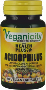 Veganicity Acidophilus : Pro-biotic Digestive Health Supplement : 60 Vcaps