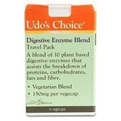 Udos Choice Digestive Enzyme Blend Travel Pack - 21 x 250mg Vegicaps