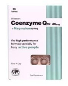 Wassen Coenzyme Q10 + Magnesium 30 Tablets