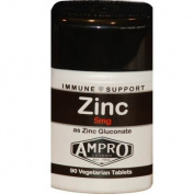 Ampro Zinc 5mg as Zinc Gluconate - Immune Support / Zinc 5mg x 90 Capsules / Antioxidant / Immune System / Athletic Performance Strength