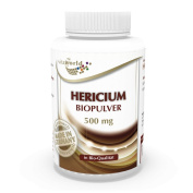 Hericium organic powder 500mg 120 vegetarian Capsules Vita World German pharmacy production