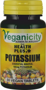 Veganicity Potassium 100mg : Bone & Joint Health Supplement : 30 tablets