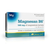 Magnesan B6 - 50 tablets, food supplement - 545 mg of magnesium lactate plus vitamins B1 and B6 in one tablet