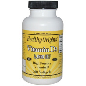 Healthy Origins 2000 IU Vitamin D3 Liquid Gels - Pack of 360