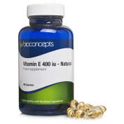 Bioconcepts Vitamin E 400iu HIGH STRENGTH 90 Capsules - Full Of ESSENTIALS That MAINTAIN Your SKINS HEALTH IMPROVE HAIR AND NAIL CONDITION! CONTAINS VITAL ANTIOXIDANTS!