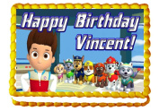 """Paw Patrol """"Featuring Everest!"""" 1/4 Sheet Edible Photo Birthday Cake Topper. ~ Personalised!"""
