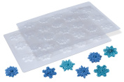 Snowflake Chocolate Candy Moulds, Set of 2 - For Cupcake Toppers, Cake Decorations, Fondant, Butter, Cream Cheese Mints, Frozen Treats, Party Favours, Soap, Wax, Clay & Crafts - Made in USA