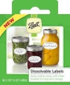 Ball Dissolvable LABELS, Six boxes for a total of 360 labels, for canning or mason jar labels, freezer labels, washable, easily removable, gift tags, mason jar labels