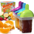 The Friendly Yeti's Ice Pop Moulds for Frozen Fruit Popsicles and Smoothies. BPA-Free Plastic With Drip Free Handle and Slurper Straw