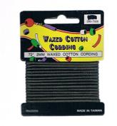 Dark Brown 2 MM Waxed Cotton Cording