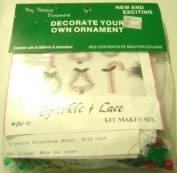 Merri Mac Decorate Your Own Beaded Christmas Ornaments Sparkle and Lace Set of 6