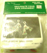 Merri Mac Decorate Your Own Beaded Christmas Ornaments Crystal Candle Chimes Set of 2