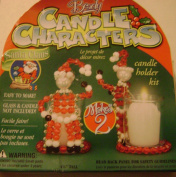 Beady Candle Characters Santa Claus Beaded Candle Holder Makes 2