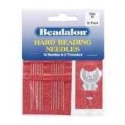 Size 10 Beadalon Hard Beading needles & Threader