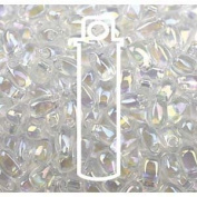 Crystal AB 3x5.5mm Long Drop Miyuki Japanese Glass Seed Beads 25 Gramme Tube