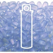 Light Sapphire Matte AB 3x5.5mm Long Drop Miyuki Japanese Glass Seed Beads 25 Gramme Tube