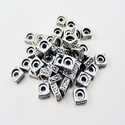 Sterling Silver Plated Square Rondelle Beads