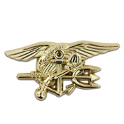 U.S. Navy Seal Team Tri Gold Lapel Pin