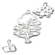 Amoracast Exclusive Sterling Silver Wise Oak Tree Pendant Sampler Set - Bunny and Hedgehog