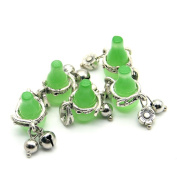 Green Opal and Zinc Alloy Material Gourd Bracelet Necklace Pendant