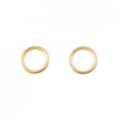 30pcs Stainless Steel Gold Plated Jump Rings 4mm Dia.