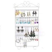 Kingfansion Fashion 48 Hole Earrings Display Rack Metal Stand Holder Showcase