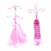 [Pinky] Jewellery Display Holder Stand Combo Light Pink