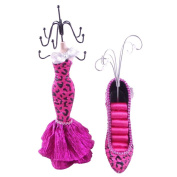 [Carmen] Jewellery Display Holder Stand Combo Hot Pink