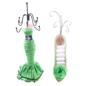 [Hebbe] Jewellery Display Holder Stand Combo Green