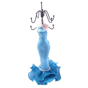 [Blue Sea-maid] Jewellery Display Holder Figure Stand Blue