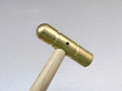 BRASS HAMMER SMALL FLAT FACE & DOMED HEAD 60ml SOLID BRASS jewellery WORK HAMMER