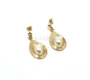 New 9New 9CT GOLD PEARL FANCY DROP EARRING (GD1488) GOLD EARRING / Gold Jewellry