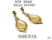 New 9ct Gold FANCY MOP TEARDROP EARRINGS (GD299) GOLD EARRING / Gold Jewellry