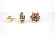 New 9Ct Gold GARNET Stud Earrings (GS1770) GOLD EARRING / Gold Jewellry