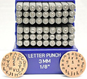 3mm Papyrus Font Alphabet Punch Letter Set, 27 Pieces Including & , Available in Uppercase, Lowercase or a Combination Set