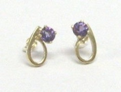New 9ct Gold Amethyst Claw Set Stud Earrings (GS1549) GOLD EARRING / Gold Jewellry