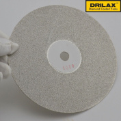 Drilax™ 15cm Professional Quality High Density Diamond Coated Flat Lap Lapping Lapidary Wheel Disc Glass - Jewellery - Polishing - Tool Grinding Sharpening Metal Back 1.3cm Arbour Multiple Grit Version Available