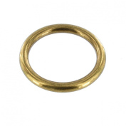 O Ring 3.8cm Heavy Welded Antique Brass Set of 2 Pcs.