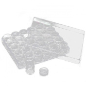 30pcs Rectangle Acrylic Clear Beads Display Storage Containers W/Lid